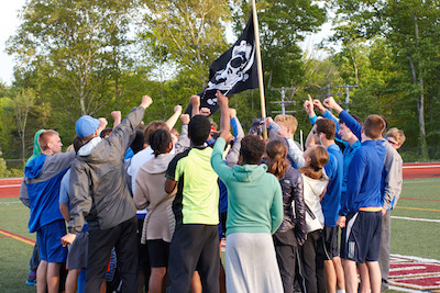 Bedford runners rallying around swag flag